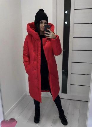 Куртка пальто женское осень зима черная батал теплое с капюшоном