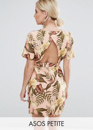 Платье мини asos в тропический принт