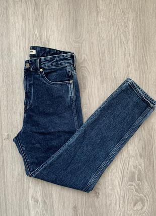 Wrangler retro slim джинсы s - m размер темно синие , стильные .10 фото