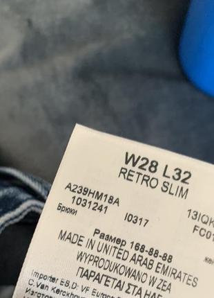 Wrangler retro slim джинсы s - m размер темно синие , стильные .9 фото