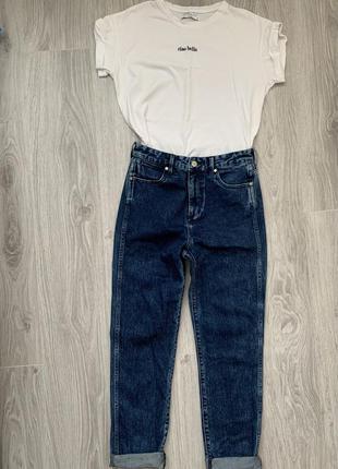 Wrangler retro slim джинсы s - m размер темно синие , стильные .2 фото