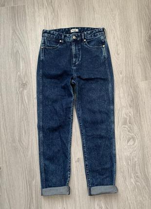Wrangler retro slim джинсы s - m размер темно синие , стильные .5 фото