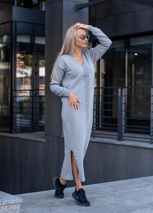 Вязаное платье макси6 фото