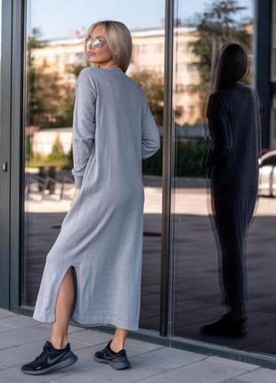 Вязаное платье макси4 фото