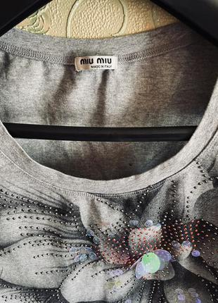 Miu miu 🔥🔥футболка оригинал3 фото