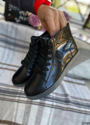 Женские резиновые сапоги- ботинки. женские демисезоные ботинки силиконовые2 фото