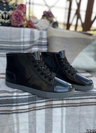 Женские резиновые сапоги- ботинки. женские демисезоные ботинки силиконовые1 фото