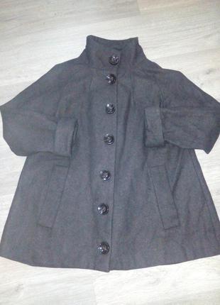 Шерстяное пальто , трапеция