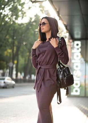 Вязаное платье макси3 фото