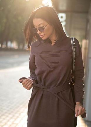 Вязаное платье макси2 фото