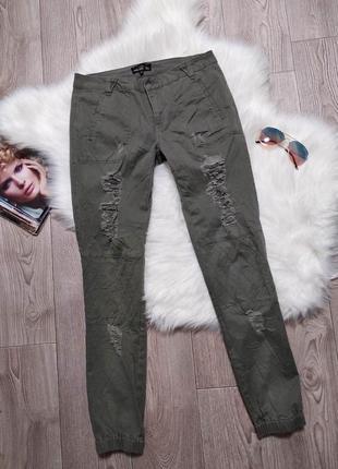 Женские джинсы джоггеры на резинках брюки джинсовые amy gee италия1 фото