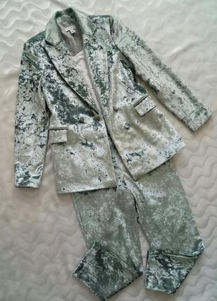Велюровый костюм topshop
