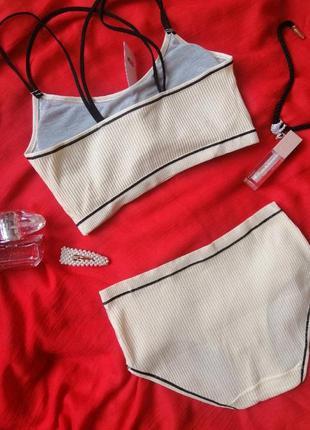 Спортивный хлопковый комплект нижнего белья2 фото