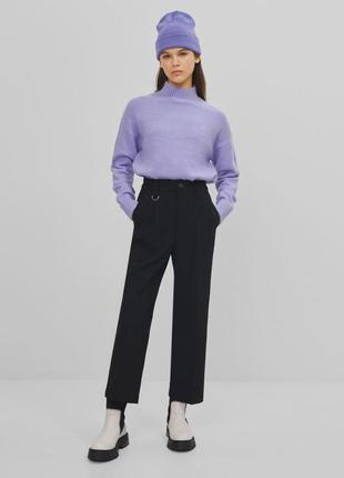 Класичні укорочені брюки bershka1 фото