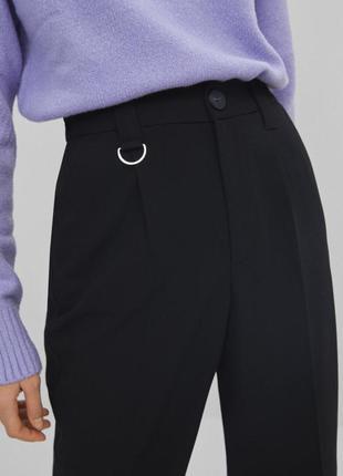 Класичні укорочені брюки bershka2 фото
