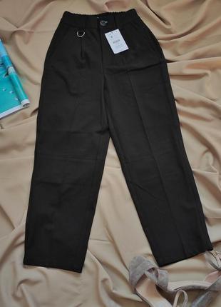 Класичні укорочені брюки bershka6 фото