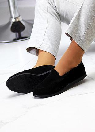 Туфли мокасины натуральная замша и кожа7 фото