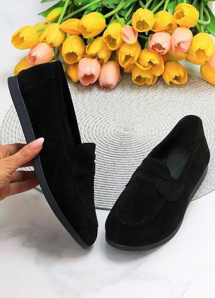 Туфли мокасины натуральная замша и кожа8 фото