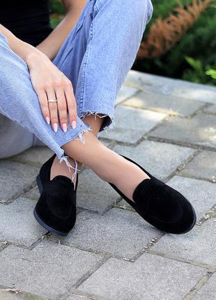 Туфли мокасины натуральная замша и кожа2 фото