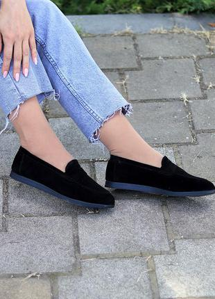 Туфли мокасины натуральная замша и кожа4 фото