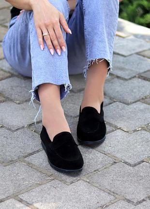 Туфли мокасины натуральная замша и кожа5 фото