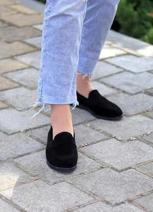Туфли мокасины натуральная замша и кожа6 фото