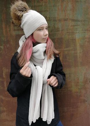 Шапка и объемный шарф