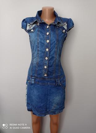 Красиве джинсове плаття1 фото