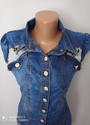 Красиве джинсове плаття2 фото