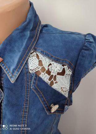 Красиве джинсове плаття3 фото