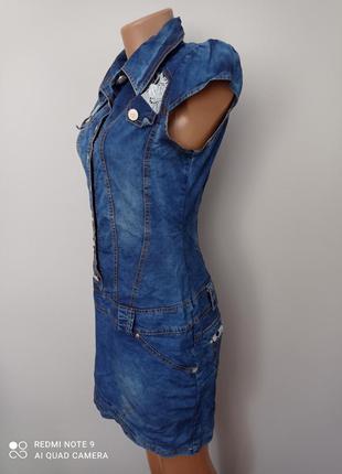 Красиве джинсове плаття4 фото