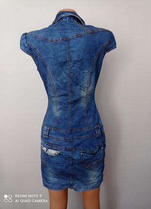 Красиве джинсове плаття5 фото