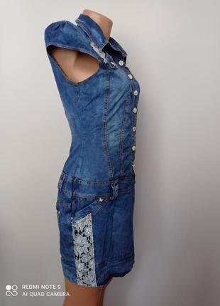 Красиве джинсове плаття6 фото