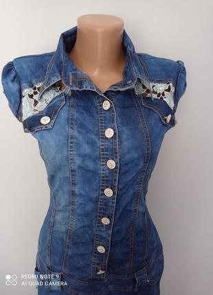 Красиве джинсове плаття7 фото
