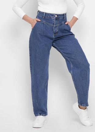 Модные синие mom джинсы3 фото
