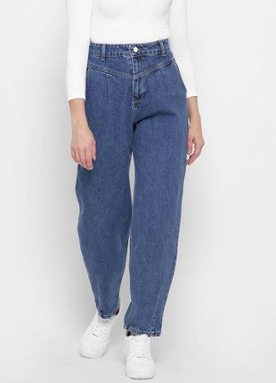 Модные синие mom джинсы2 фото