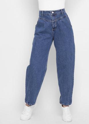 Модные синие mom джинсы4 фото