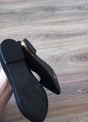 Черные замшевые туфли балетки3 фото