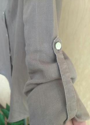 Льняная рубашечка . франция.цвет мокко3 фото