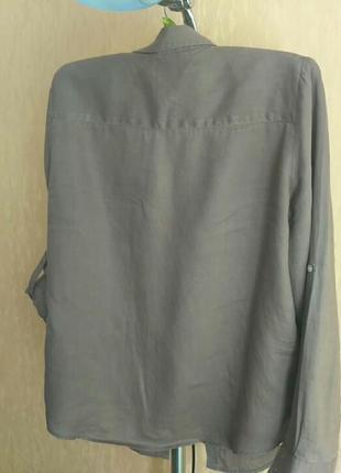 Льняная рубашечка . франция.цвет мокко6 фото