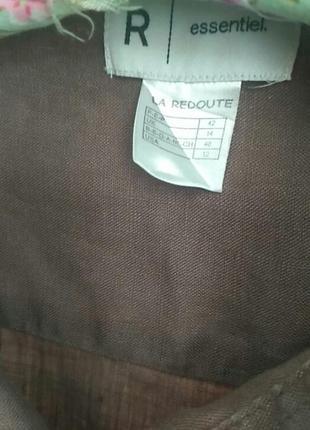 Льняная рубашечка . франция.цвет мокко7 фото