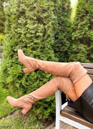 Ботфорты на каблуке,сверху на затяжке. утеплены флисом до косточки5 фото