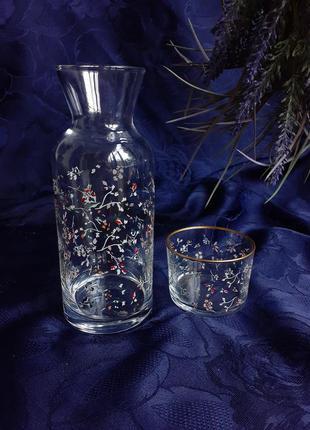 🏺кувшин🍸🍹🍷карафа 🍨+ ваза с подсвечником конфетницей стекло с декором