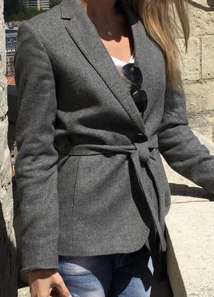 Massimo dutti жакет пиджак с поясом8 фото