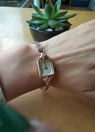 Женские золотые часы «луч», ретро2 фото