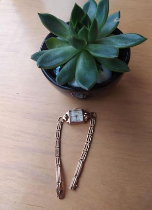 Женские золотые часы «луч», ретро4 фото