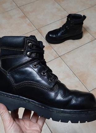 Кожаные сапоги,ботинки caterpillar (катерпиллер)5 фото