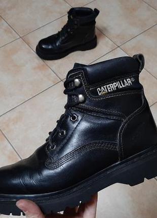 Кожаные сапоги,ботинки caterpillar (катерпиллер)4 фото