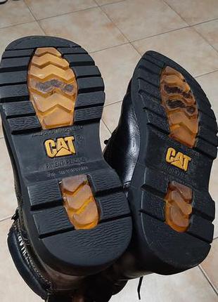Кожаные сапоги,ботинки caterpillar (катерпиллер)10 фото