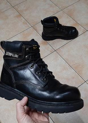 Кожаные сапоги,ботинки caterpillar (катерпиллер)1 фото